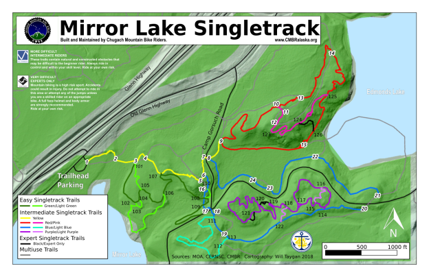 CMBR MIrror Lake Map